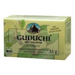 Like guduchi tea with ginger - Dosha harmonizing