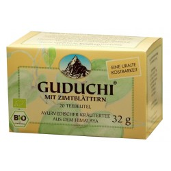 Guduchi - Guduchi Tee mit Zimtblättern, 20 Teebeutel