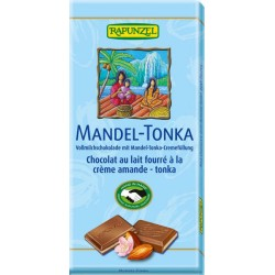 Rapunzel milk chocolate almond-Tonka - 100g