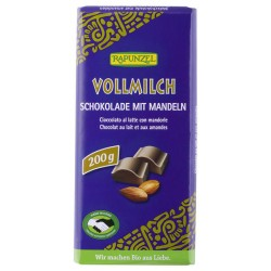 Rapunzel milk chocolate with whole almonds 200g