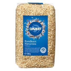 Davert - round grain brown rice - 500g