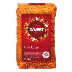 Davert - Red Whole lentils - 500g