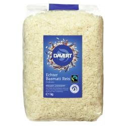 Davert - Vrai Riz Basmati, blanc de commerce équitable 1kg