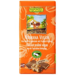 Rapunzel - Nirvana vegan al Cioccolato con Pralinè-Ripieno - 100g