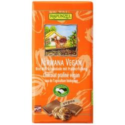 Rapunzel - Nirvana vegana de Chocolate con Pralinè-Relleno - 100g