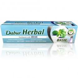 Dabur a base de Hierbas Basil Pasta de dientes con hojas de Albahaca - 100g