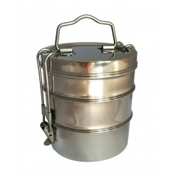 "Tiffin-Box ""Bombay Tiffin"" is a 3-storey, stainless steel"