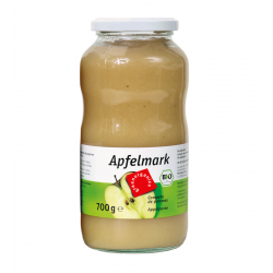 Green - organic Apple pulp unsweetened, 720ml - 700g