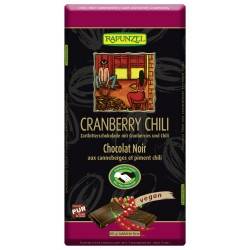 Rapunzel dark chocolate with Cranberries and Chili - 80g