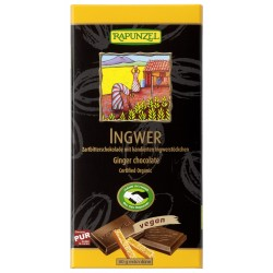 Rapunzel dark chocolate ginger 55% - 80g