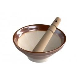 Terrasana - Suribachi & Surikogi - Giapponese Mortaio in Ceramica