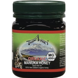TranzAlpine organic Manuka honey MGO 400+ 250g