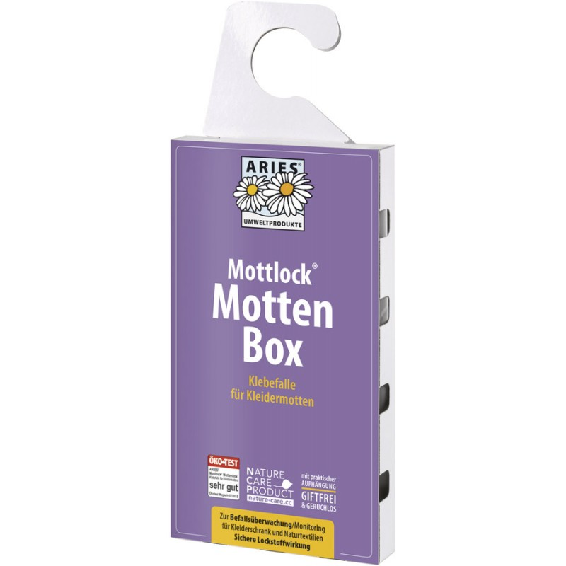 aries mottlock mottenbox 1st gegen motten im kleiderschrank. Black Bedroom Furniture Sets. Home Design Ideas
