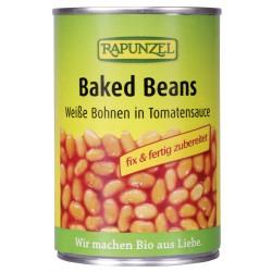 Rapunzel - Baked Beans, Fagioli bianchi in salsa di Pomodoro - 400g