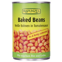 Rapunzel - Baked Beans, weiße Bohnen in Tomatensauce - 400g