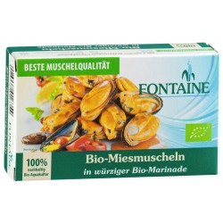 Fontaine organic mussels in a spicy organic Marinade -120g