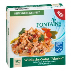 Fontaine - salmone selvatico Insalata di Alaska in chiaro Bio-Condimento - 200g