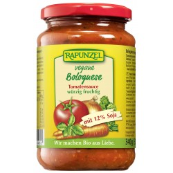 Rapunzel de la salsa de Tomate, Boloñesa vegana, con la Soja - 330ml