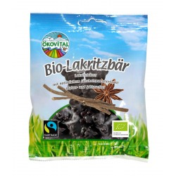 Ökovital - organic licorice bear 80g