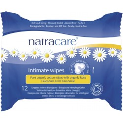 Natracare - Intimate Wipes - 12 Piece