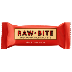 Raw Bite ORGANIC raw food bar Apple Cinnamon - 50g