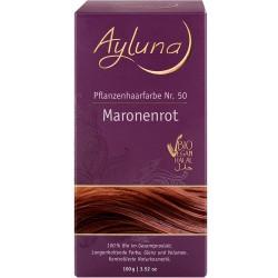 Ayluna - Pflanzenhaarfarbe Nr. 50 Maronenrot - 100g