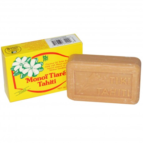 Monoi Tiki Tahiti, Monoi Tiare coconut oil-soap-125g -