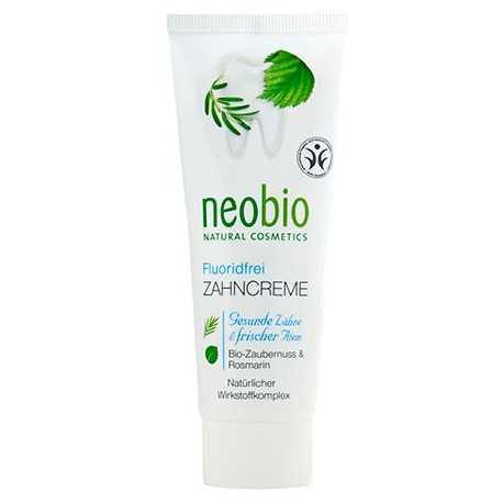 Neobio - Zahncreme Zaubernuss & Rosmarin Fluoridfrei - 75ml