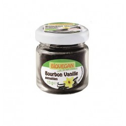 Biovegan ORGANIC vanilla Bourbon in a glass, crushed 15g -