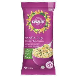 Davert - Noodle-Cup of broccoli-cheese-Sauce - 64g