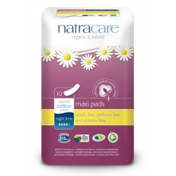 Natracare - Maxi sanitary napkins for night use - 10 pieces