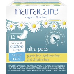Natracare - Ultra Sanitary Pads Super - 12 Piece