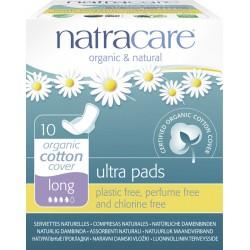 Natracare - Ultra Serviettes Hygiéniques Long - 10 Pièces