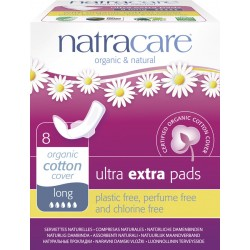 Natracare Ultra Extra Sanitary Pads-Long - 8-Piece