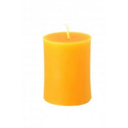 Candles farm rooster - beeswax pillar candle - 60 mm