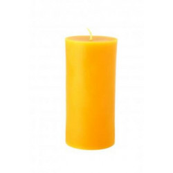 Candles farm rooster - beeswax pillar candle - 135 mm