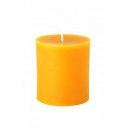 Candles farm rooster - beeswax pillar candle 75 mm