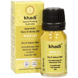 Khadi de la Cara y el aceite corporal White Lily - 10ml