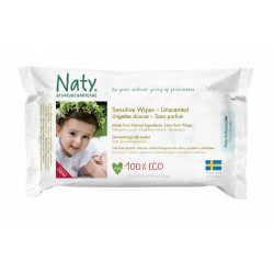 Naty wipes sensitive, unscented - 56 pieces
