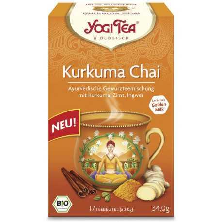 Yogi Tea - Kurkuma Chai Bio, Aufgussbeutel - 17St