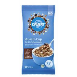 Davert - Muesli Cup Dark chocolate 55g