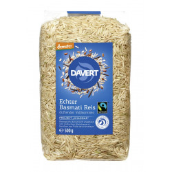 Davert - Demeter Basmati Reis, Vollkornreis FAIRTRADE - 500g