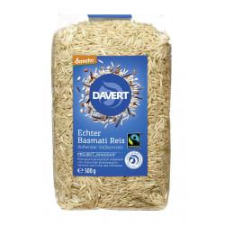 Davert - Demeter le Riz Basmati, le Riz complet, de commerce équitable 500g