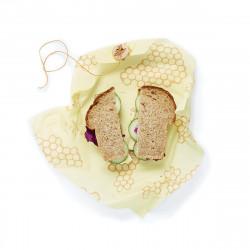 Bees Wrap - toile cirée pour le Sandwich - 33x33 cm