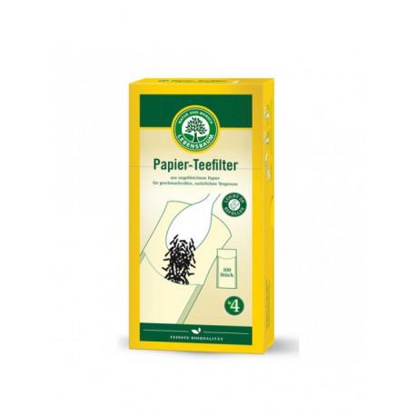 Lebensbaum - Papierteefilter Größe 4 - 100 Stück