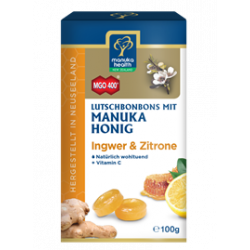 Manuka Health - Manuka honey hard candies ginger & lemon - 100g