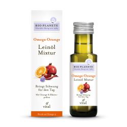 Bio Planete - Omega Arancio olio di semi di Lino-Ricetta - 100ml