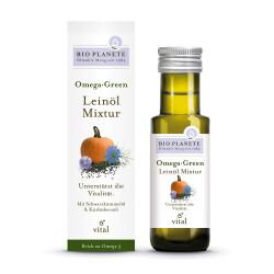 Bio Planete - Omega Green olio di semi di Lino-Ricetta - 100ml