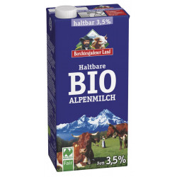 Land - Durable Bio lait des alpes de 3,5%, 1l