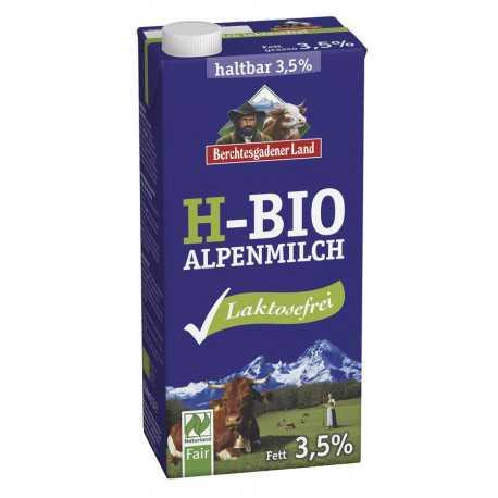 Berchtesgadener Land - Laktosefreie H-Bio Alpenmilch 3,5% - 1l